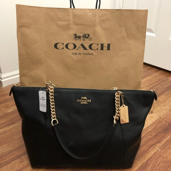 d69a81c0deb0 ... canada brand new black coach bag with tags 7504c 3e239